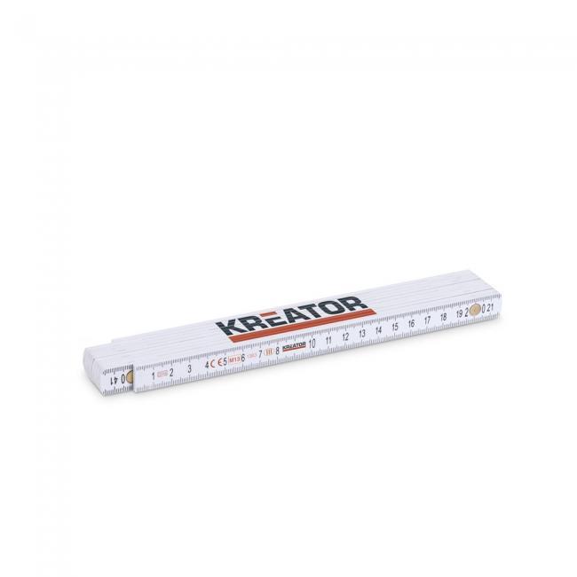 Kreator mérővessző 2m-es, fehér KRT701003