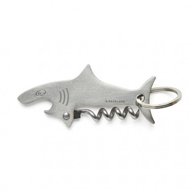 Kulcstartó, cápa formájú bornyitó