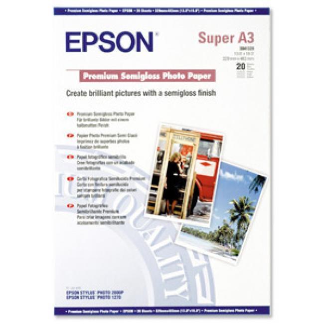 S041328 Fotópapír, tintasugaras, A3+, 251 g, félfényes, EPSON [20 lap]
