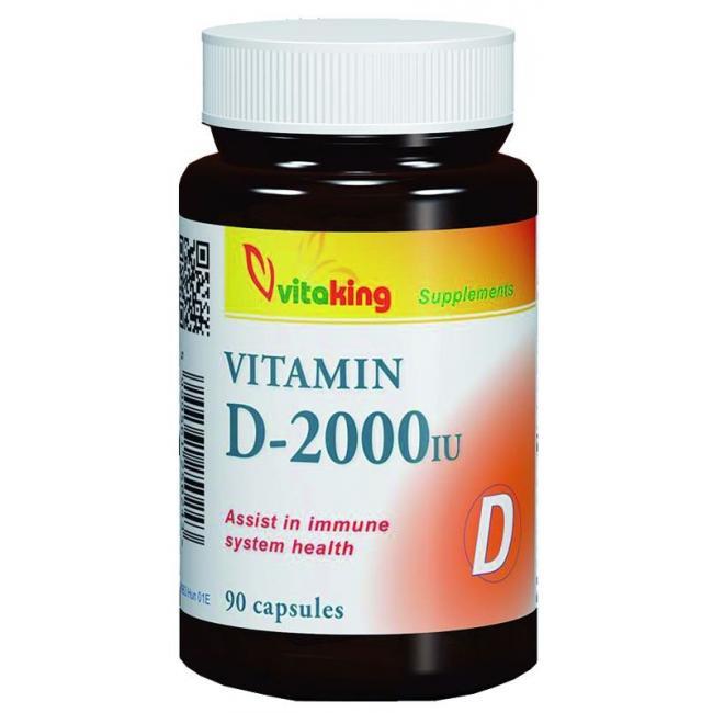 Vitaking Vitamin D 2000NE gélkapszula [90 db]