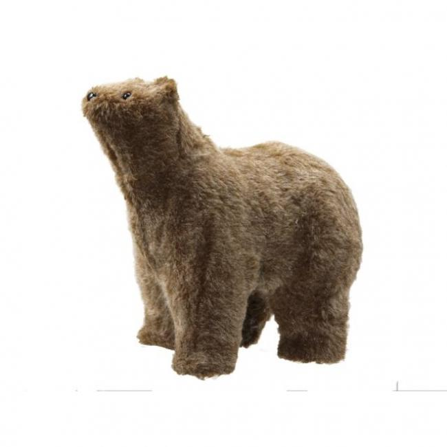 Medve álló textil 30 cm x 18cm x 26 cm barna