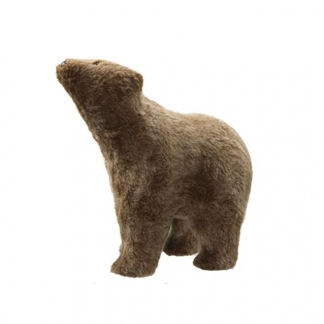 Medve álló textil 38 cm x 20 cm x 39 cm barna