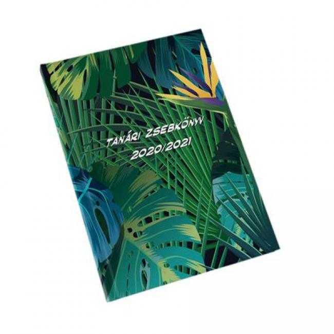 Tanári zsebkönyv, A5, heti, REALSYSTEM, tropical