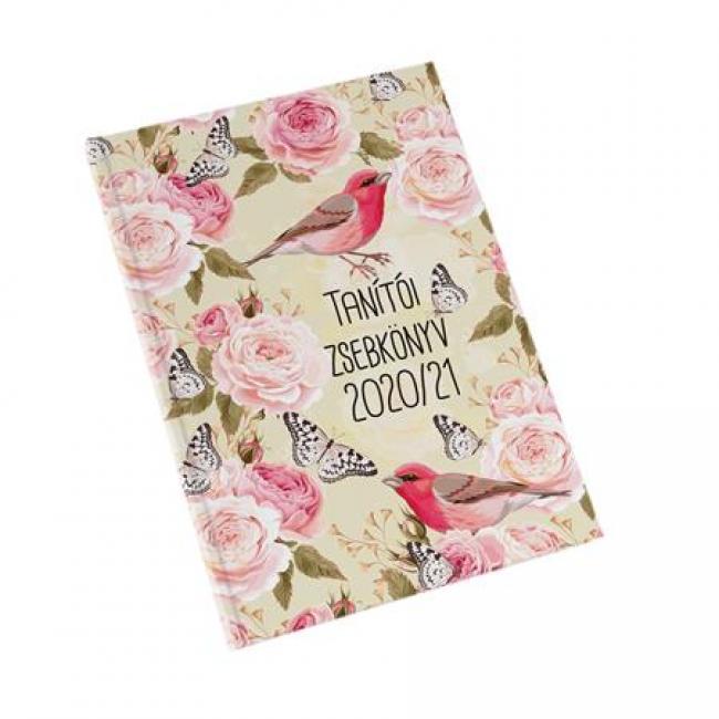 Tanítói zsebkönyv, A5, heti, REALSYSTEM, rózsa