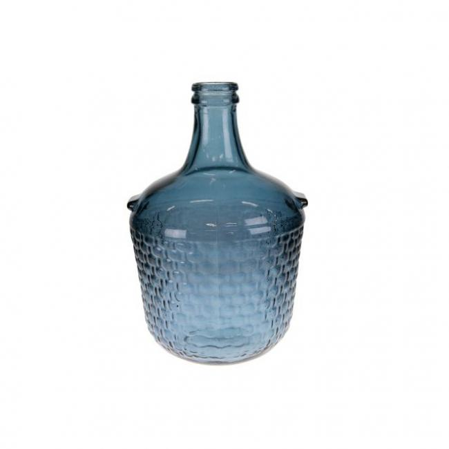 Palack mintás üveg 27x42 cm sötét kék