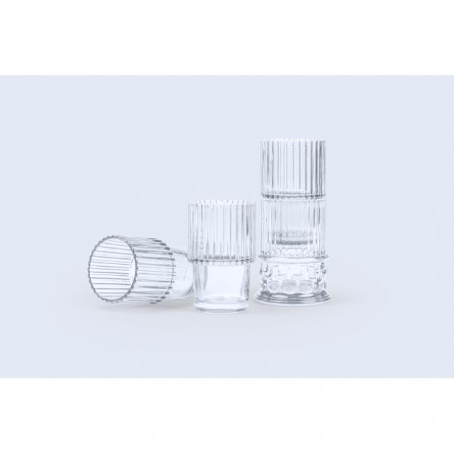 Pohár Hestia, átlátszó üveg 6x6x6cm [4 db]