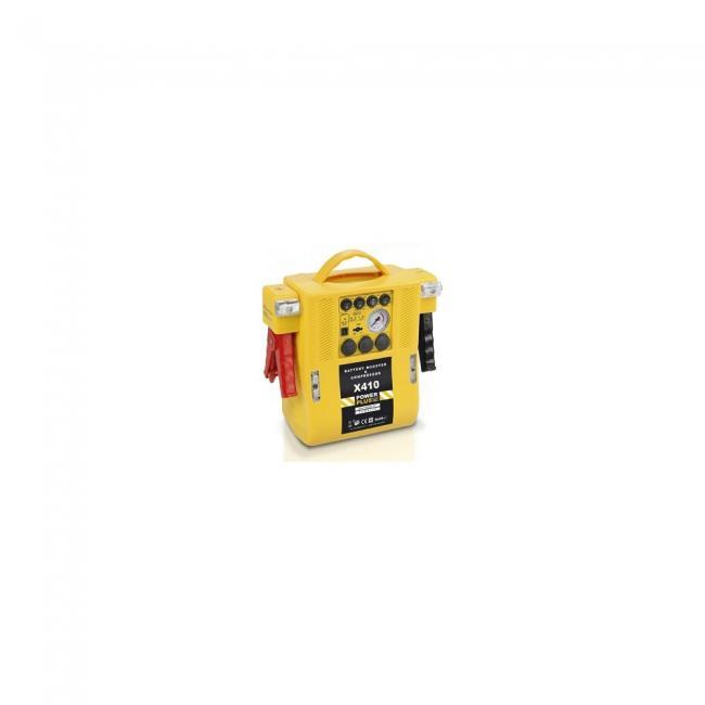 PowerPlus sárga gyorsindító 500mA kompresszorral POWX410