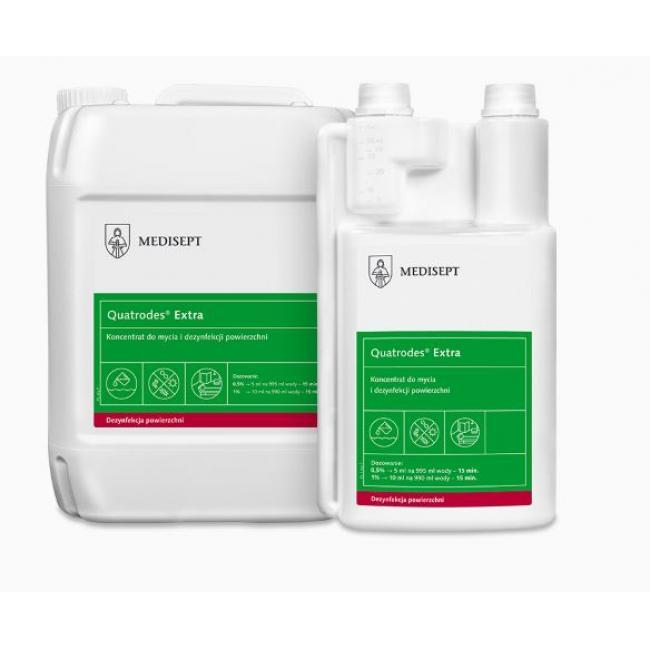 Fertőtlenítő Quatrodes Extra 1 liter, Felületre
