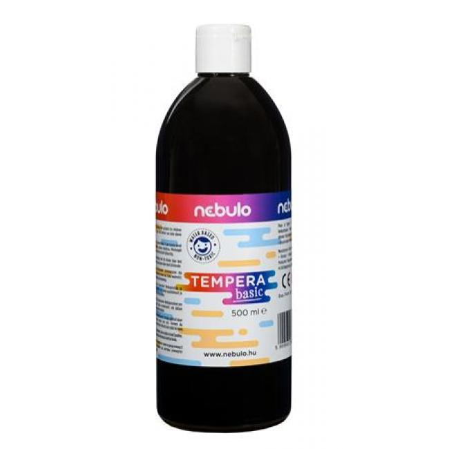 Tempera, 500 ml, NEBULO, fekete