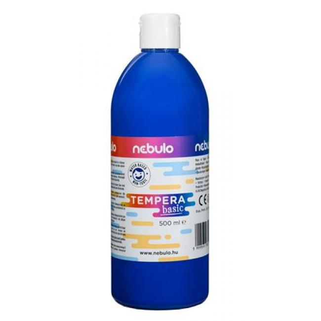Tempera, 500 ml, NEBULO, kék