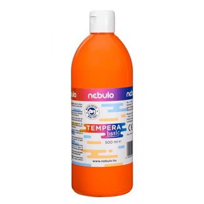 Tempera, 500 ml, NEBULO, narancssárga