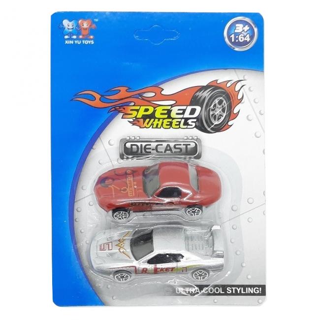 Speed Wheels 1:64 kisautó szett, többféle (2db/csomag)