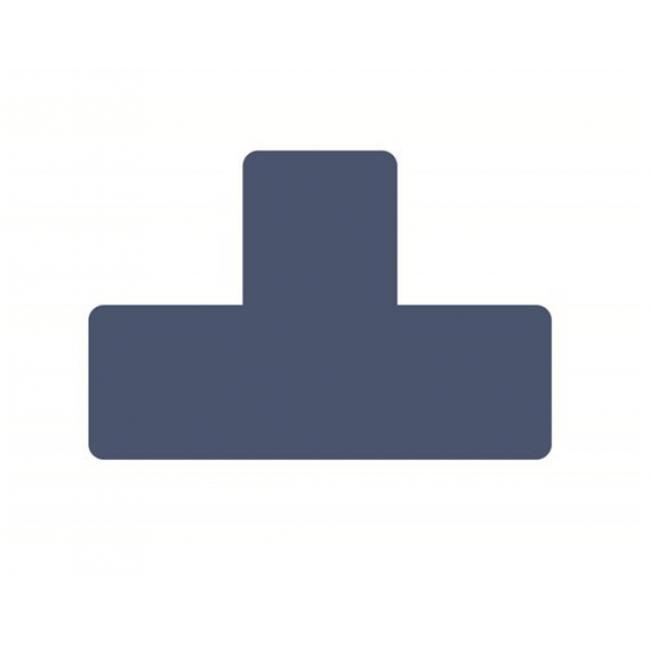 T alakú padló matrica, 50mm, TARIFOLD, kék [10 db]