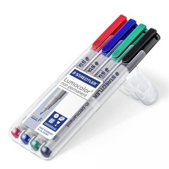 Alkoholmentes marker készlet, OHP, 0,6 mm, STAEDTLER