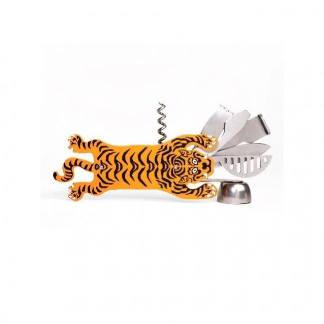 Tigris formájú többfunkciós bornyitó