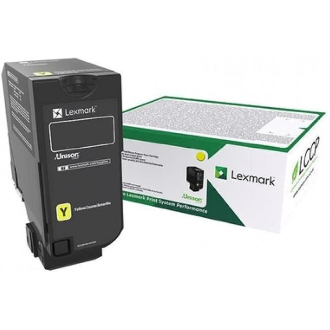 Lexmark [CX725] 84C2HYE [Y] 16K toner (eredeti, új)
