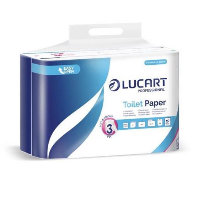 Toalettpapír, 3 rétegű, kistekercses, 24 tekercs, LUCART