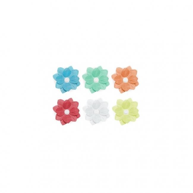 Úszó mécsestartó papír 29cm színes (6db)