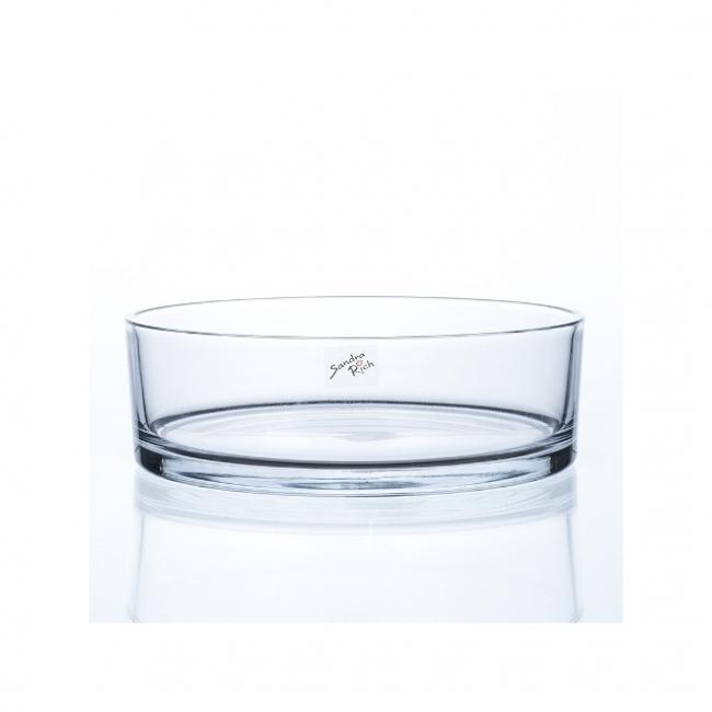 Üveg tál 8x25cm átlátszó
