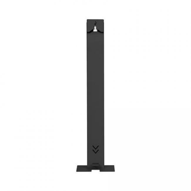 Kézfertőtlenítő állomás, 20x28x111 cm, kézfertőtlenítővel, fekete