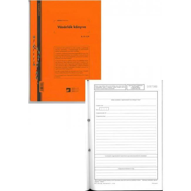 Vásárlók könyve 25x2 A4 B.Sz.Ny.11-1V