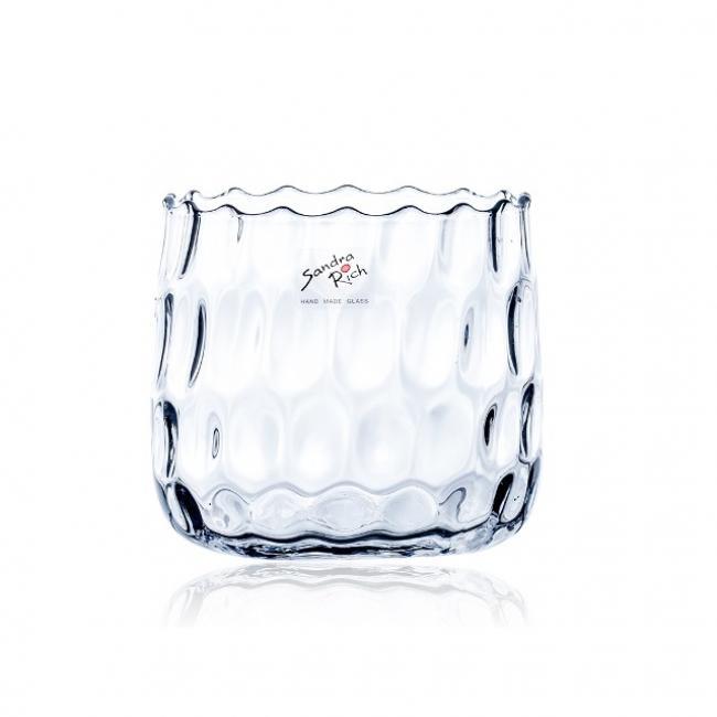 Váza üveg 13x13cm átlátszó