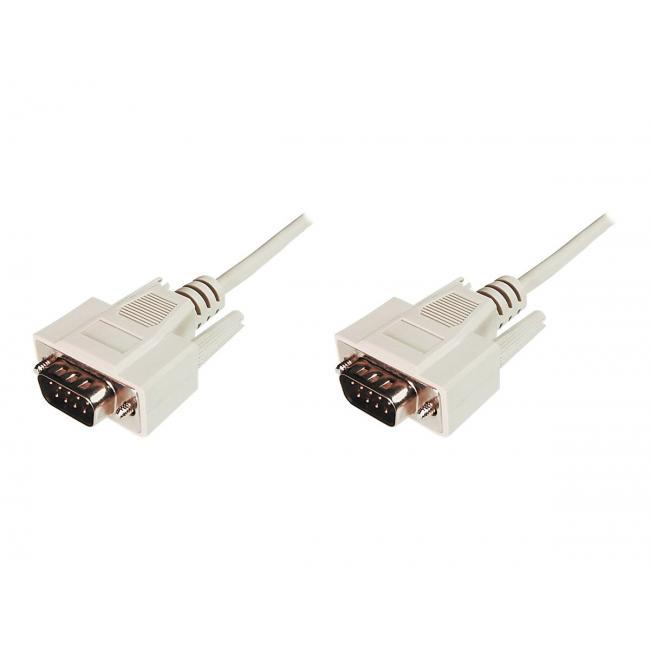 ASSMANN RS232 kábel DSUB9 M (plug)/DSUB9 M (plug) 2m beige