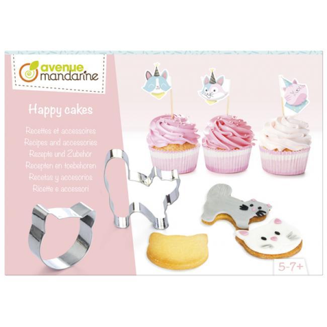 Avenue Mandarine KC106C Kreatív doboz, Boldog sütemények, Receptek és kiegészítők, Macskák