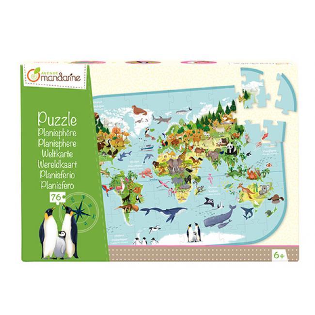 Avenue Mandarine PU014C A világ állatai puzzle - 72 db-os Avenue Mandarine