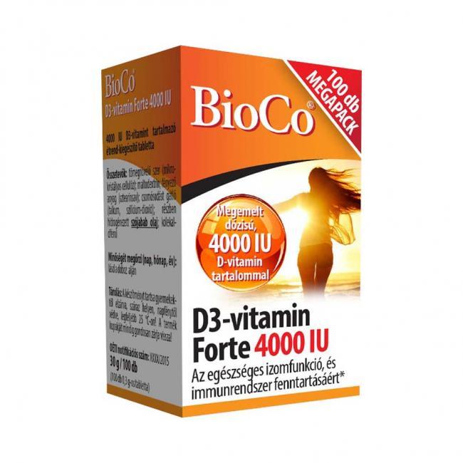 Bioco D3 vitamin forte tabletta [100db]