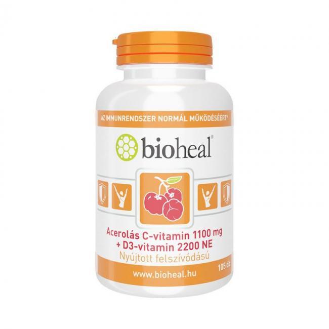 Bioheal acerolás c+d3-vitamin kapszula [105 db]