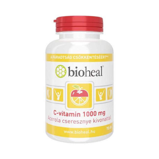 Bioheal c-vitamin+acerola tabletta [70 db]