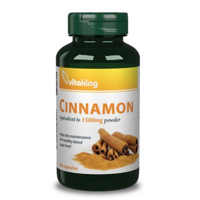 Vitaking Fahéj Cinnamon 375 mg kapszula [90 db]