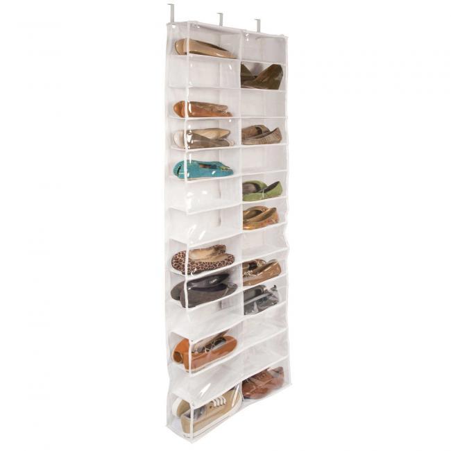 Cipőtároló ajtóra szerelhető, 160x55x16 cm, fehér