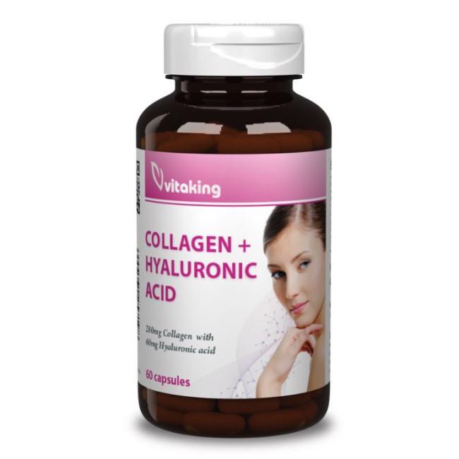 Vitaking Hialuronsav + Kollagén Komplex gélkapszula [60 db]