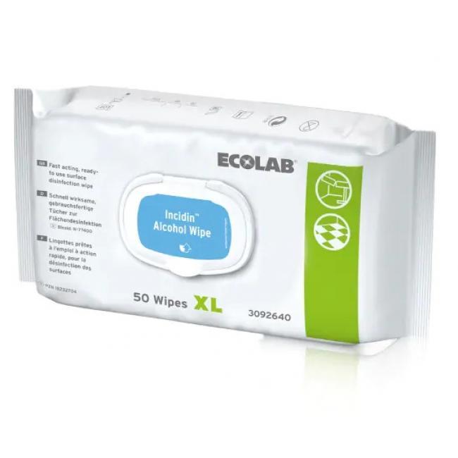 Fertőtlenítő kendő Incidin Alcohol wipe XL 50 lap