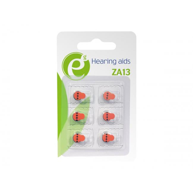 GEMBIRD EG-BA-ZA13-01 Energenie Hearing aids button cell ZA13, 6-pack, blister