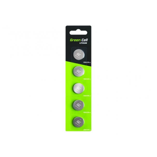 GREEN CELL 5x battery CR2430 3V 290mAh