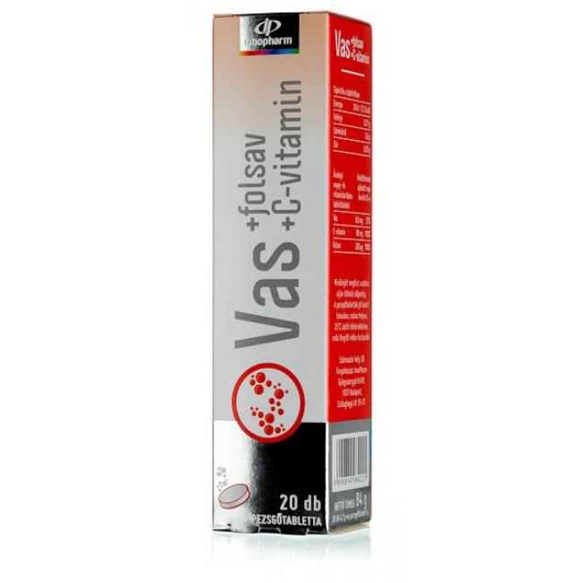 Innopharm pezsgőtabletta Vas+C-vitamin [20 db]
