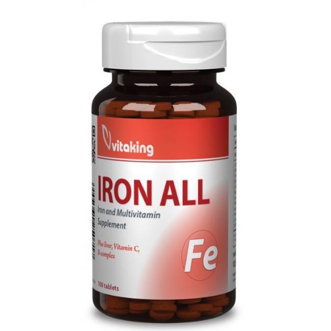 Vitaking Iron All (vas) kapszula [100 db]