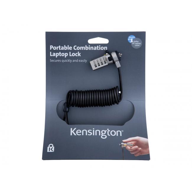 KENSINGTON K64670EU Kensington Portable Combination Laptop Lock számzáras zár