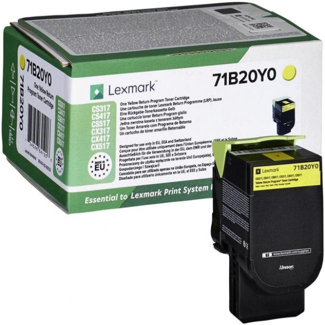 Lexmark [CS317, 417, 517] 71B20Y0 [Y] 2,3K toner (eredeti, új)