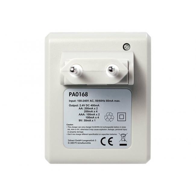 Loglink elem töltő Ni-MH/Ni-Cd AA/AAA/9V újratölthető elemekhez