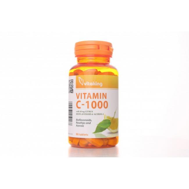 Vitaking Vitamin C 1000 bioflavonoiddal, acerolával és csipkebogyóval [90 db]