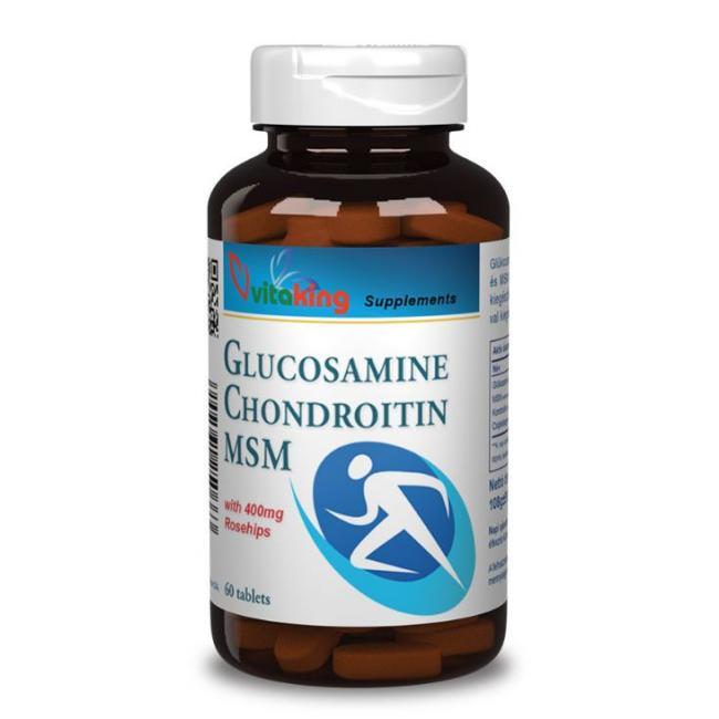 Vitaking MSM + Glucos + Chondroitin + Csipkebogyó tabletta [60 db]