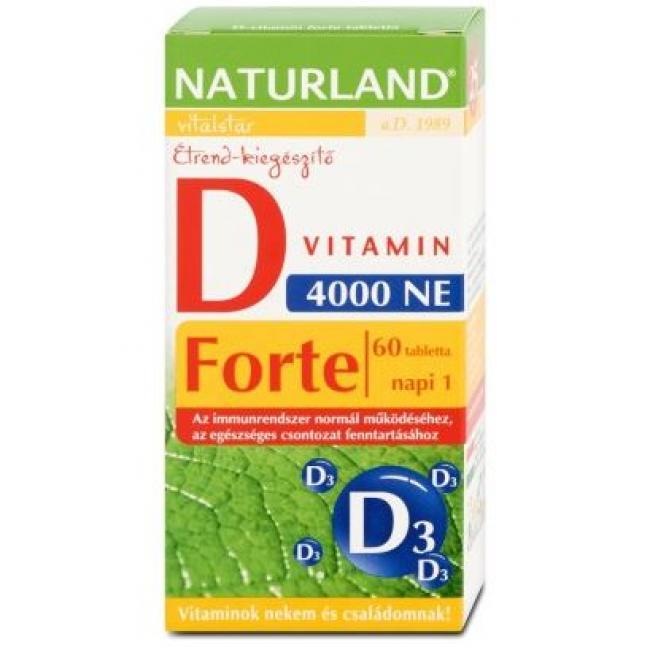 NATURLAND D-VITAMIN FORTE TABLETTA [60 DB]