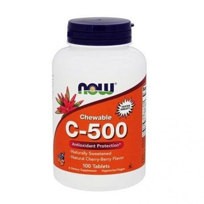 Now C-500 cseresznye ízű rágótabletta [100 db]