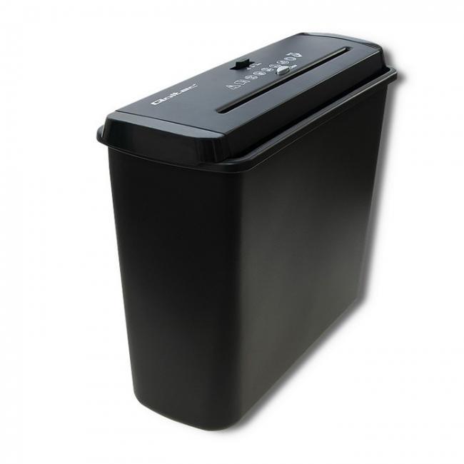 Qoltec Home&office iratmegsemmisítő, 6 lap, 7 L, fekete