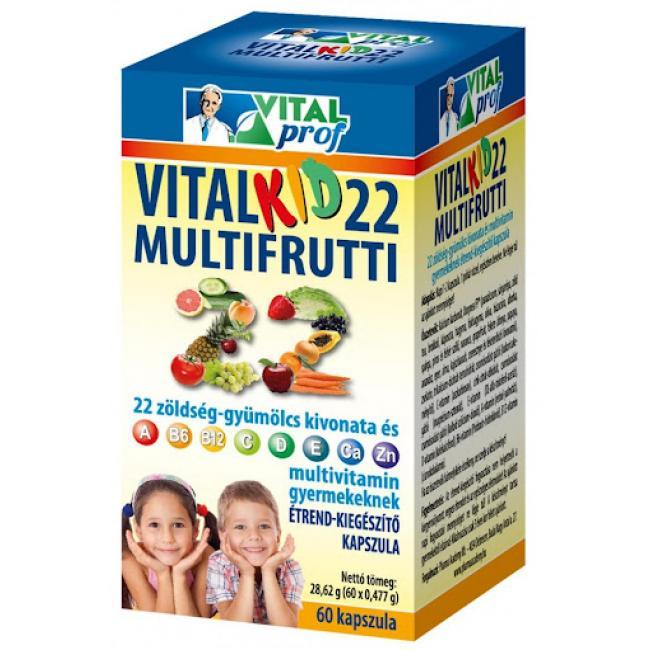 Vital Prof Vitalkid 22 Multifrutti [60 db]
